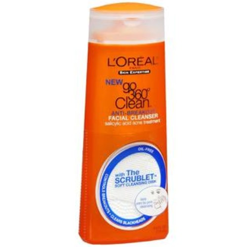 L'Oreal Skin Expertise Go 360 Degrees Clean Anti-Breakout Facial Cleanser, 6 OZ