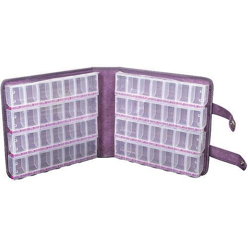Craft Mates Lockables Ultrasuede Large Organizer Case (Purple)