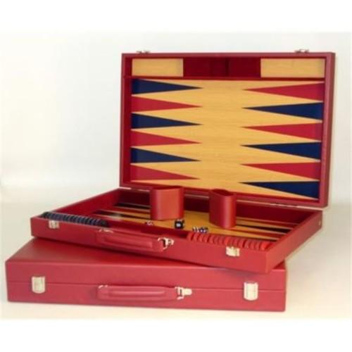 WorldWise Imports Burgundy Tournament Backgammon (WWI22564)