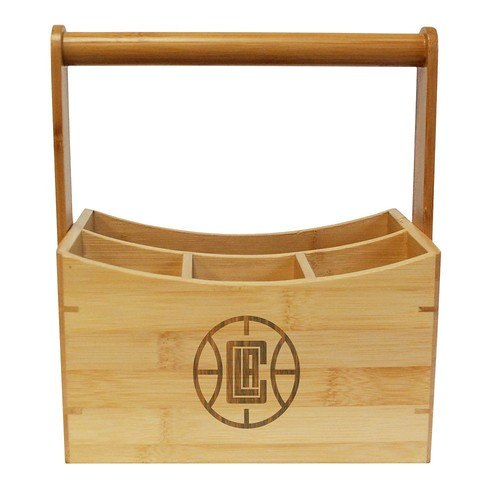 Los Angeles Clippers Bamboo Utensil Caddy