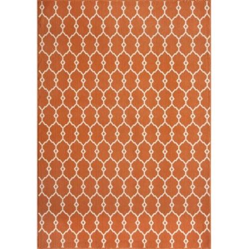 Momeni Baja Orange 8 ft. 6 in. x 13 ft. Indoor/Outdoor Area Rug