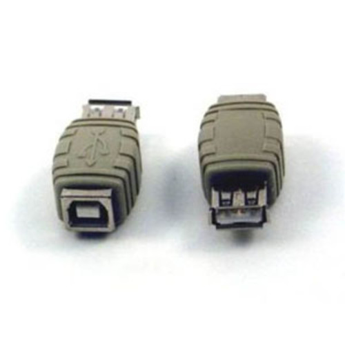 Micro Connectors USB A Female to USB B Female Adapter