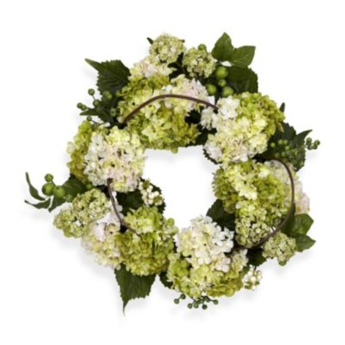 Nearly Natural 22-Inch Hydrangea Wreath