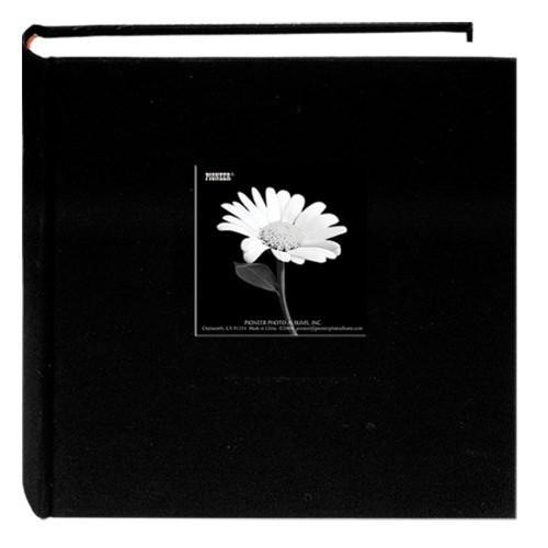 Fabric Frame Cover Photo Album 200 Pockets Hold 4x6 Photos, Deep Black [Deep Black]
