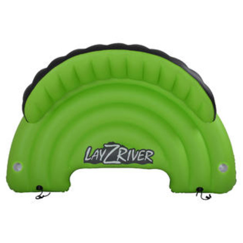 Blue Wave Sports Lay-Z-River Inflatable Sofa Float for Rivers, Lakes Pool w Drink Holders