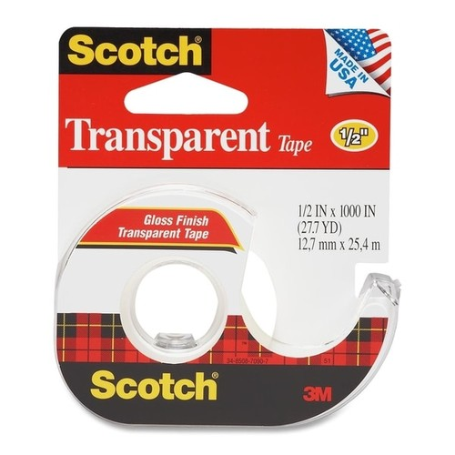 Scotch Transparent Tape - 1/RL