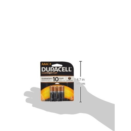 Duracell Coppertop AAA Batteries, 4 Count [AAA, 4]