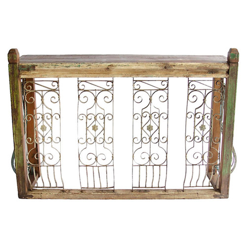 Indo French Iron Balcony Console