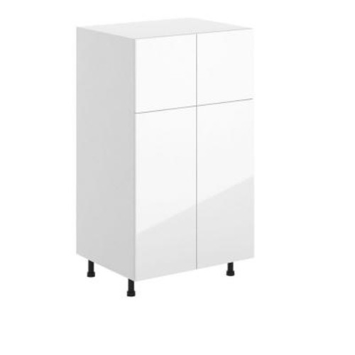 Eurostyle Valencia Ready to Assemble 30 x 49 x 24.5 in. Pantry/Utility Cabinet in White Melamine and Door in White