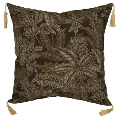 Bombay Outdoors Palmetto Floral 2-piece Reversible Throw Pillow Set