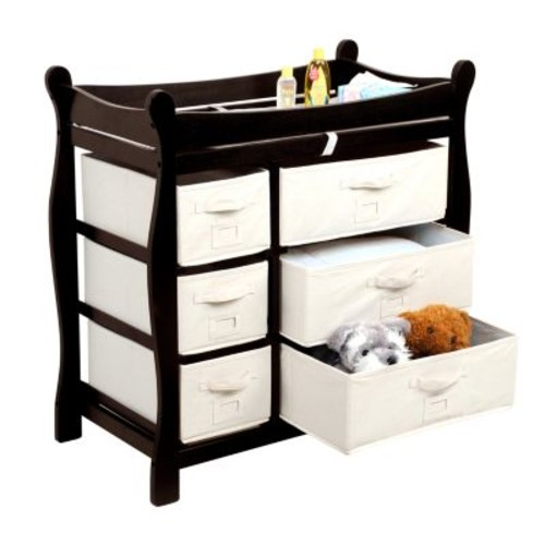 Badger Basket Baby Changing Table with Six Baskets, Espresso [Espresso]