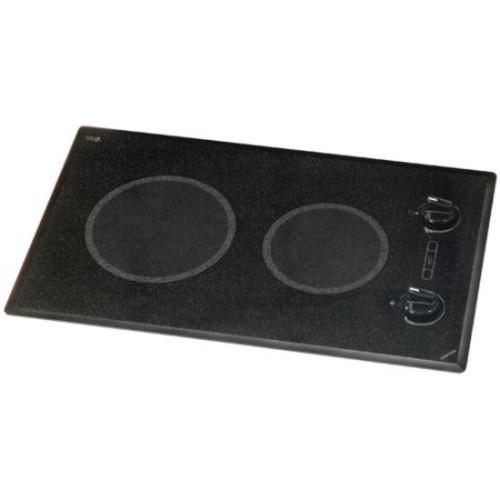Kenyon B41511 6-1/2 and 8-Inch Mediterranean 2-Burner Cooktop with Analog Control UL, 240-volt, Black