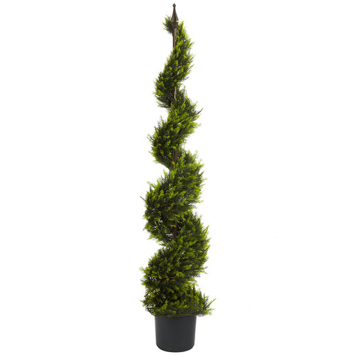 Nearly Natural 5' Cypress Spiral Tree Silk