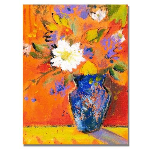 Trademark Global Sheila Golden 'Orange Wall II' Canvas Art [Overall Dimensions : 18x24]