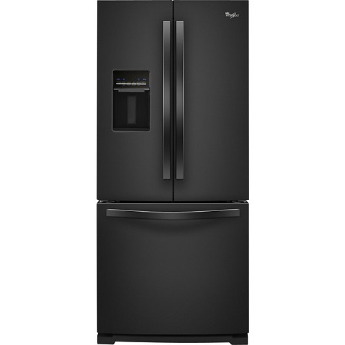 Whirlpool WRF560SEYB 19.5 Cu. Ft. Black French Door Refrigerator - Energy Star