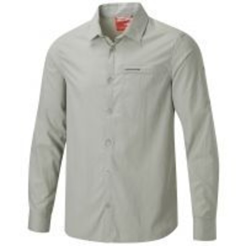 Crag Hoppers Craghoppers Nosilife Belay Long Sleeve Shirt - Mens crh0067-Parchment-XX-Large, Color: Parchment, Mens Clothing Size: 2XL, Gender: Male, Age Group: Adults,