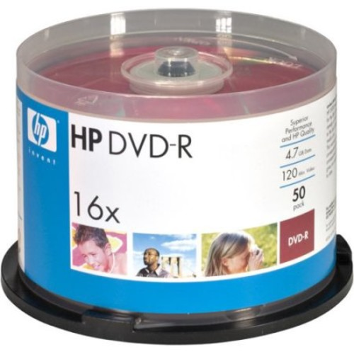Pny DM16WJH050CB Hp Dm16wjh050cb 4.7gb Dvd-rs, 50-ct Printable Spindle
