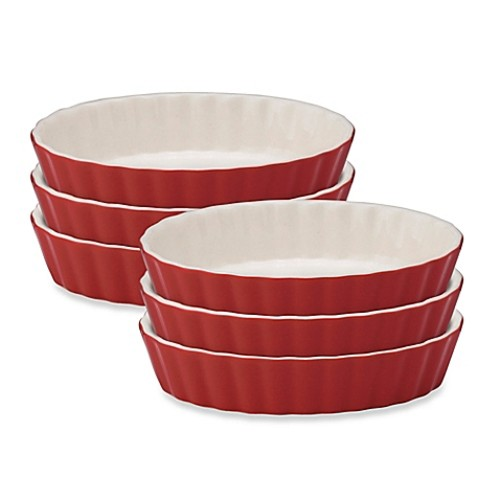 Mrs. Anderson's Baking Round Creme Brulee Bowls in Red (Set of 6)