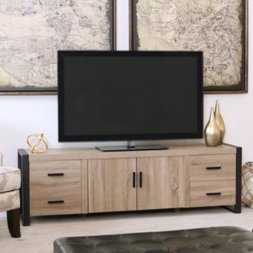 Walker Edison 70-Inch Wood TV Console in Driftwood