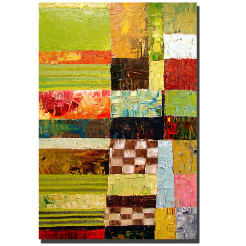 Trademark Global Michelle Calkins 'Abstract Color Study' Canvas Art [Overall Dimensions : 35x47]