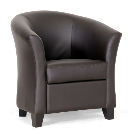 Baxton Studio Anderson Club Chair - Dark Brown