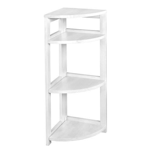 Niche Flip Flop White 3-Shelf Corner Folding Bookcase