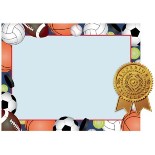 Great Papers! Sports Certificates and Seals Kit, 8.5