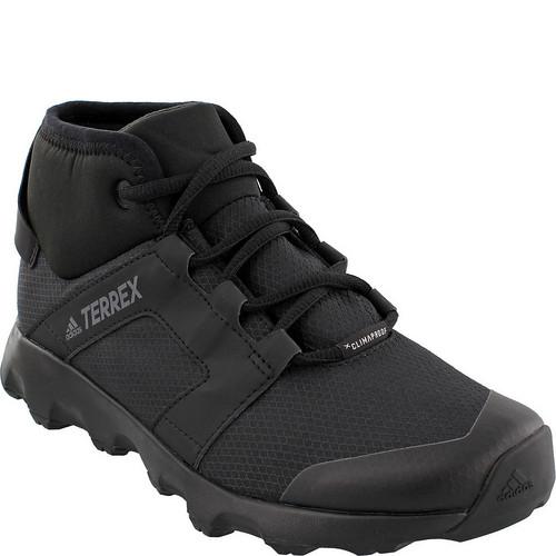 ADIDAS Womens Terrex Voyager CW CP Mid-Cut Hiking Shoes, Black/Black/Chalk White