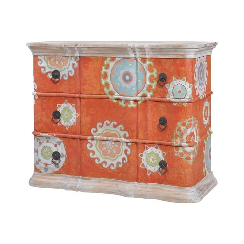 Titan Lighting Harmony 3-Drawer Mottled Tangerine Chest