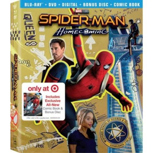 Spider-Man Homecoming Target Exclusive: Comic Book & Bonus Content (Blu-ray + DVD + Digital)