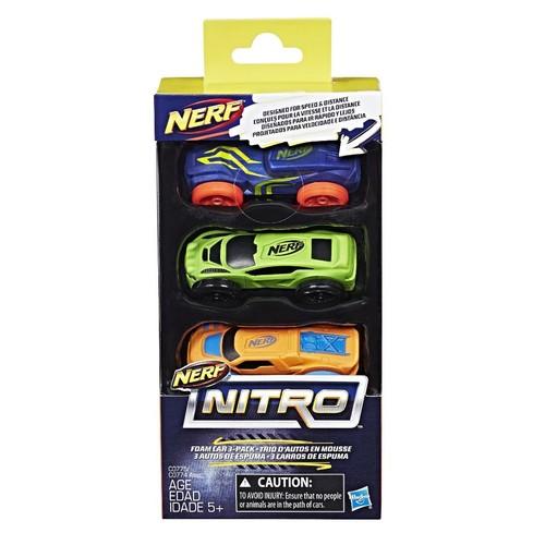 NERF Nitro Foam Car - 3 Pack