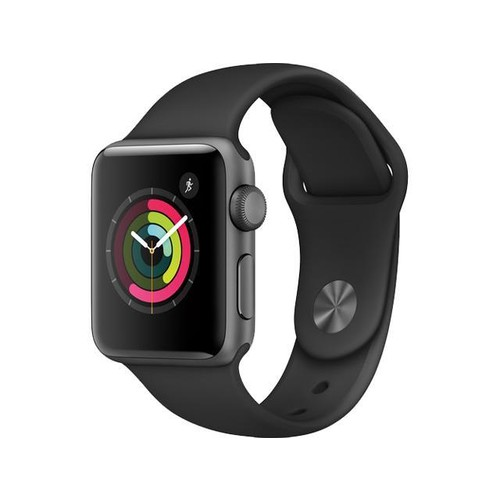 Apple Watch Series 2 38mm Space Gray Aluminum Case Black Sport Band MP0D2LL/A - Space Gray Aluminum