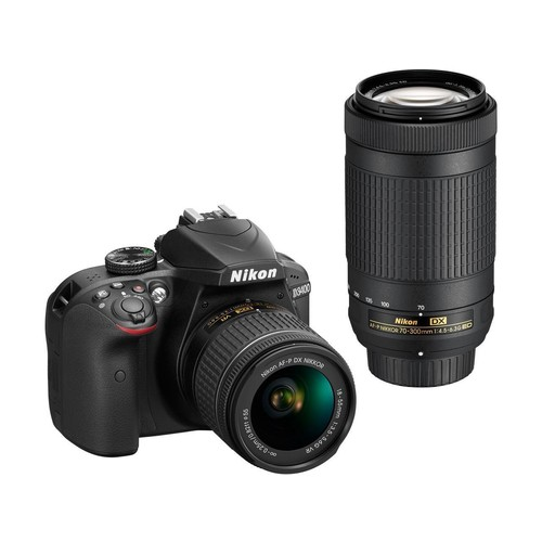 Nikon D3400 1573 DSLR Camera with 18-55 mm and 70-300 mm Lenses (Black)