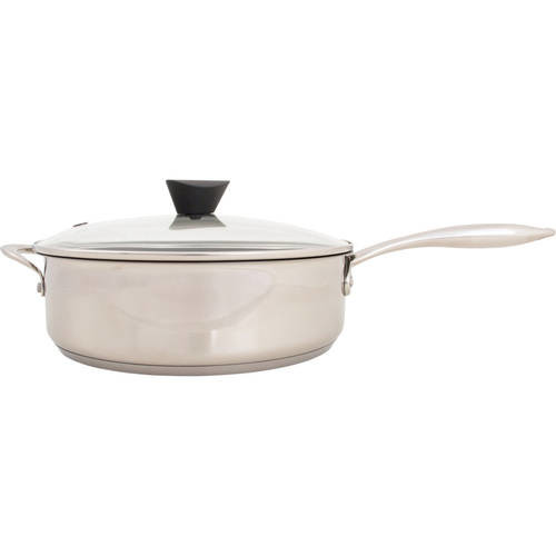 The Stainless Steel All-In-One Sauce Pan by Ozeri, with a 100% PFOA and APEO-Free Non-Stick Coating developed in the USA