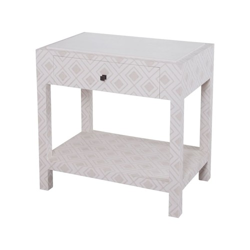 Kent Fabric Wrapped Bedside Table design by Lazy Susan