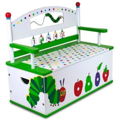 Wildkin Kid's Very Hungry Caterpillar Bench Seat with Storage