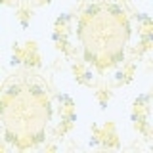 Brewster 344-68744 Maybelle Blue Cameo Damask Wallpaper