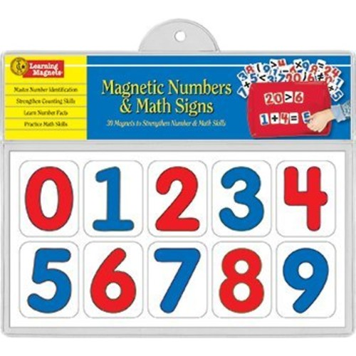 Barker Creek - Office Products Learning Magnets, Numbers & Math Signs Set of 20 (LM-1305)