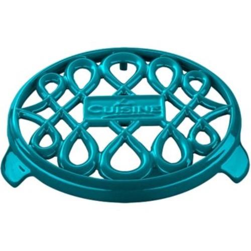 La Cuisine Round Cast Iron Trivet; Teal