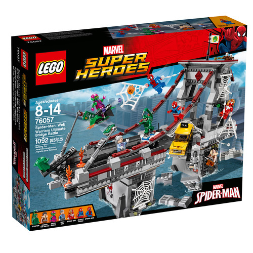 LEGO Marvel Super Heroes Spider-Man - Ultimate Bridge Battle with Wall Explosion Effects #76057