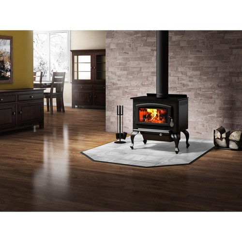 Drolet Columbia 26 in. 1600 sq. ft. EPA Certified Wood-Burning Stove