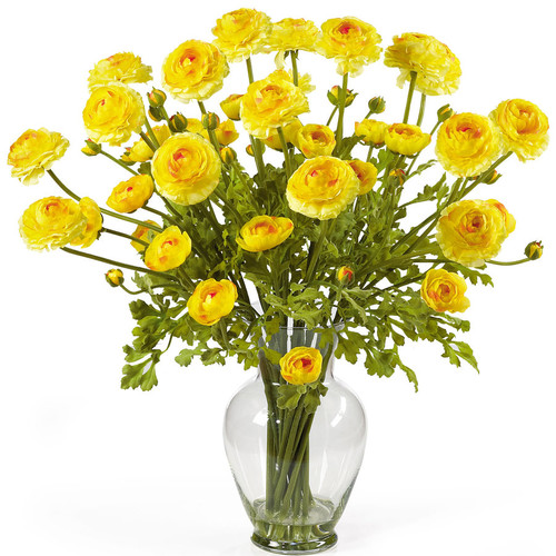 Nearly Natural 24-in Yellow Silk Arrangement