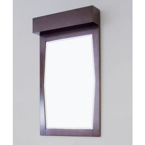 American Imaginations Transitional Wall Mirror; White