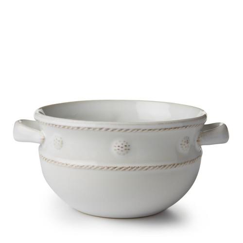 Berry & Thread Whitewash Handled Soup Bowl
