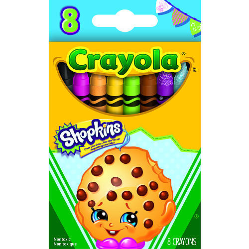 Crayola 8 Count Shopkins Crayons - Kooky Cookie
