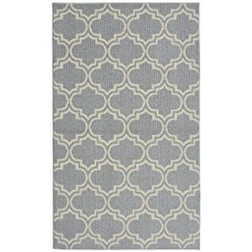 Garland Rug Silhouette Area Rug, 5 by 7-Feet, Silver/Ivory: Kitchen & Dining [Silver/Ivory, 5-Feet by 7-Feet]
