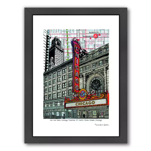 Americanflat Chicago Theatre Framed Wall Art