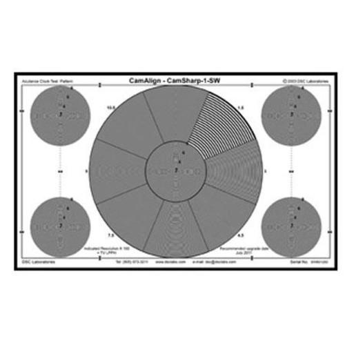 DSC Labs CamSharp Standard Resolution Test Chart, 21.3x13