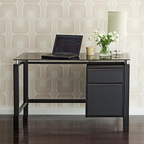 Realspace Lake Point Writing Desk, Black