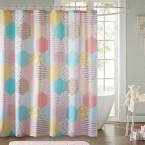 Urban Habitat Kids Trixie 72-Inch Shower Curtain in Yellow/Pink